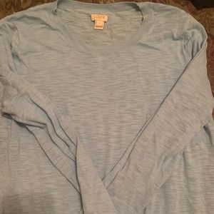Light Blue Knit Long Sleeve Sweater from J.Crew